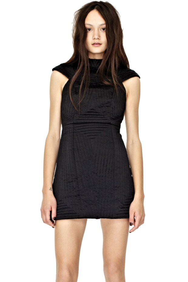 Shakuhachi Quilted Structured Dress